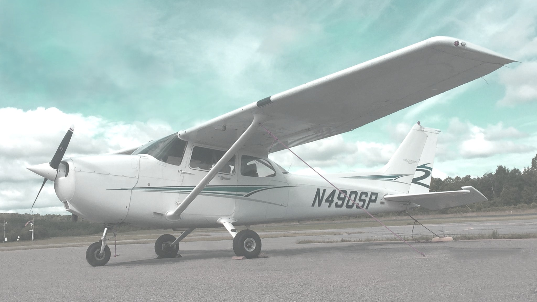flight school plane